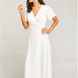 Noelle Flutter Wrap Dress by Show Me Your MuMu